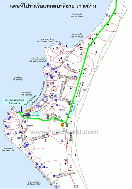 Lareena Resort In Koh Larn Near Pattaya Map And Location Koh Larn